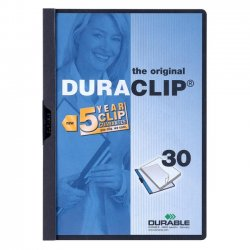Durable - 2203GE - Durable DURACLIP Report Cover - Letter - 8.5 x 11 - 30 Sheet - 1 Each - Graphite, Clear