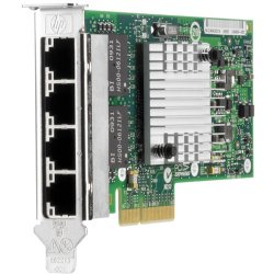 Hewlett Packard (HP) - 593722-B21 - HP NC365T Ethernet Server Adapter - PCI Express x16 - 4 Port(s) - 4 x Network (RJ-45) - Low-profile
