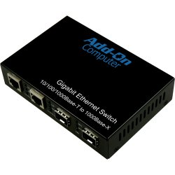 AddOn - AO-GES-22-S - AddOn 2 10/100/1000Base-TX(RJ-45) to 2x open SFP Gigabit Ethernet Switch - 100% compatible and guaranteed to work
