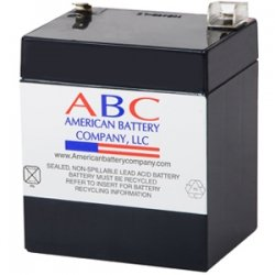 American Battery Company - RBC46 - ABC Replacement Battery Cartridge - 5000 mAh - 12 V DC - Sealed Lead Acid (SLA) - Maintenance-free - Hot Swappable - 3 Year Minimum Battery Life - 5 Year Maximum Battery Life