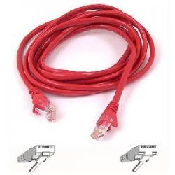Belkin / Linksys - A3X126-06-RED-M - Belkin Cat5e Patch Cable - RJ-45 Male - RJ-45 Male - 6ft - Red