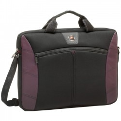 Victorinox / Swiss Army - GA-7500-01F00 - Swissgear Sherpa 16in Slimcase Computer Sleeve, Burgandy & Black - Sleeve - 16 Screen Support - 13 x 2 x 16.5 - Neoprene, Polyester - Burgundy