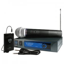 Nady System - DKW-3 HT/B 185.150 MHZ - NADY DKW-3 HT/B 185.150 Mhz VHF Single-Channel Handheld Wireless Cardioid Dynamic Microphone System