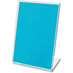 Deflect-O - 20004 - deflecto Mini Tabletop Sign Holder - Plastic - 10 / Bag - Clear
