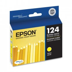 Epson - T124420 - Epson DURABrite 124 Moderate Capacity Ink Cartridge - Inkjet - 220 Page - 1 Each