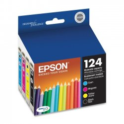 Epson - T124120-BCS - Epson DURABrite 124 Original Ink Cartridge - Inkjet - 170 Pages - Black, Cyan, Magenta, Yellow - 4 / Pack