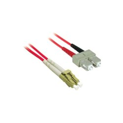 C2G (Cables To Go) - 37237 - 2m LC-SC 62.5/125 OM1 Duplex Multimode PVC Fiber Optic Cable - Red - Fiber Optic for Network Device - LC Male - SC Male - 62.5/125 - Duplex Multimode - OM1 - 2m - Red