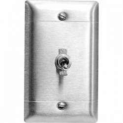 Draper - 121023 - Draper VIC-OS Hardwire Switch - Toggle Switch - Projector Screen - Chrome Switch, Stainless Steel Plate