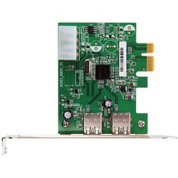 Transcend - TS-PDU3 - Transcend TS-PDU3 2-port PCI Express USB Adapter - PCI Express 2.0 x1 - Plug-in Card - 2 USB Port(s) - 2 USB 3.0 Port(s)