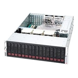 "Supermicro - CSE-936E26-R1200B - Supermicro SuperChassis SC936E26-R1200B Rackmount Enclosure - Rack-mountable - Black - 3U - 16 x Bay - 5 x Fan(s) Installed - 2 x 1200 W - ATX, EATX Motherboard Supported - 75 lb - 16 x External 3.5"" Bay - 7x Slot(s)"