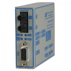 Omnitron - 4483-1 - FlexPoint RS-232 Serial Fiber Media Converter DB-9 ST Multimode 5km - 1 x RS-232; 1 x ST Multimode; US AC Powered; Lifetime Warranty