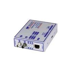 Omnitron - 4302-0 - FlexPoint 10Mbps Ethernet Fiber Media Converter RJ45 ST Multimode 5km - 1 x 10BASE-T; 1 x 10BASE-FX; No Power Adapter; Lifetime Warranty