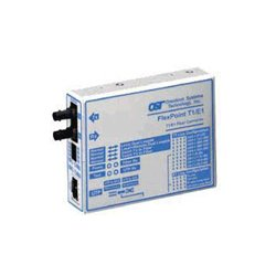 Omnitron - 4493-1 - Omnitron Systems FlexPoint T1/E1 Copper to Fiber Media Converter - 1 x RJ-48 , 1 x ST , 2 x BNC - T1/E1 - Rack-mountable