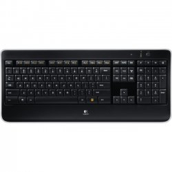 Logitech - 920-002359 - Logitech K800 Illuminated Keyboard - Wireless Connectivity - RF - USB Interface - Compatible with Computer (PC) - Black