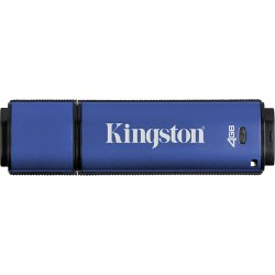 Kingston - DTVP/4GBCL - Kingston 4GB DataTraveler Vault Privacy Edition USB 2.0 Flash Drive - 4 GB - USB 2.0