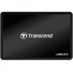 Transcend - TS-RDF8K - Transcend RDF8 USB 3.0 Flash Card Reader - CompactFlash, SD, SDHC, SDXC, microSDHC, microSD, TransFlash, MultiMediaCard (MMC), MMCplus, Reduced Size MultiMediaCard (MMC), MMCmobile, ... - USB 3.0External