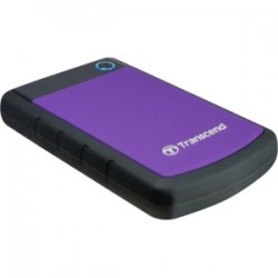 "Transcend - TS500GSJ25H3P - Transcend StoreJet 25H3P 500 GB 2.5"" External Hard Drive - USB 3.0 - SATA - 5400rpm - Portable - Purple - 1 Pack"
