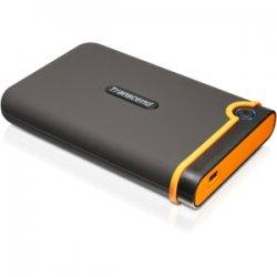 """Transcend - TS1TSJ25M2 - Transcend StoreJet 25M2 1 TB 2.5"""" External Hard Drive - USB 2.0 - SATA - 5400rpm - 8 MB Buffer"""