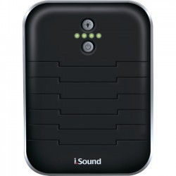 ISOUND - DG-ISOUND-6218 - 2600MAH Battery w/built in cables Bk/Sil