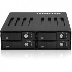 "iStarUSA - BPU-124V2-SS - iStarUSA BPU-124V2-SS Drive Bay Adapter Internal - 4 x Total Bay - 4 x 2.5"" Bay - Serial ATA/600"
