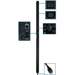 "Tripp Lite - PDU3VN10L2120 - Tripp Lite PDU 3-Phase Monitored 208V 5.7kW L21-20P 30 C13; 6 C19 0URM - 6 x IEC 60320 C19, 30 x IEC 60320 C13 - 5.7kW - Zero U Vertical Rackmount"""