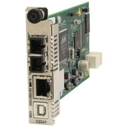 Transition Networks - C2220-1014 - Transition Networks C2220-1014 Media Converter - 1 x Network (RJ-45) - 1 x SC Ports - 10/100/1000Base-T, 100Base-FX - Internal