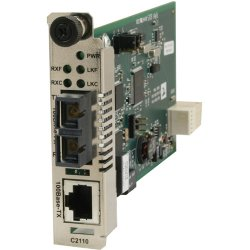 Transition Networks - C2110-1040 - Transition Networks C2110-1040 Fast Ethernet Media Converter - 1 x Network (RJ-45) - 10/100Base-TX - 1 x Expansion Slots - 1 x SFP Slots - Internal