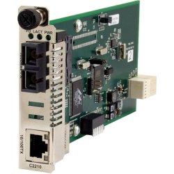 Transition Networks - C2210-1011 - Transition Networks C2210-1011 Fast Ethernet Media Converter - 1 x Network (RJ-45) - 1 x ST Ports - 10/100Base-TX, 100Base-FX - Internal