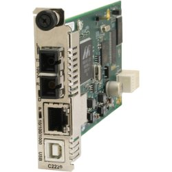 Transition Networks - C3210-1040 - Transition C3210 Series - Fiber media converter - Ethernet, Fast Ethernet, Gigabit Ethernet - 10Base-T, 1000Base-T, 100Base-X - RJ-45 / SFP (mini-GBIC)