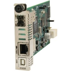 Transition Networks - C3220-1014-NA - Transition Networks C3220-1014 Media Converter - 1 x Network (RJ-45) - 1 x SC Ports - - USB - 1000Base-LX, 10/100/1000Base-T - Internal
