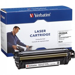 Verbatim / Smartdisk - 97482 - Verbatim Remanufactured Laser Toner Cartridge alternative for HP CE250A Black - Black - Laser - 1 Each