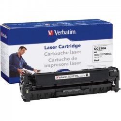 Verbatim / Smartdisk - 97485 - Verbatim Remanufactured Laser Toner Cartridge alternative for HP CC530A Black - Black - Laser - 1 Each