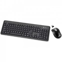 Buslink Media - RF-6577L-BK - I-Rocks RF-6577L Keyboard and Mouse - USB Wireless RF Keyboard - USB Wireless RF Mouse - Laser - 1600 dpi