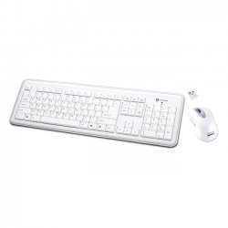 Buslink Media - RF-6577L-WH - I-Rocks RF-6577L Keyboard and Mouse - USB Wireless RF Keyboard - USB Wireless RF Mouse - Laser - 1600 dpi