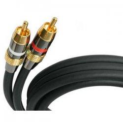 StarTech - AUDIORCA30 - StarTech.com Premium Audio Cable - 30ft - 2 x RCA, 2 x RCA - Audio Cable External - Black - 30 ft - 1 x RCA Male Audio - 1 x RCA Male Audio - Black