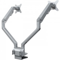 Doublesight - DS-225XE - DoubleSight Displays DS-225XE Mounting Arm for Monitor - 27 Screen Support - Silver