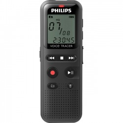 Philips - DVT1150 - Philips Voice Tracer Audio Recorder (DVT1150) - 4 GB - 1.3 LCD - WAV - Headphone - 295 HourspeaceRecording Time - Portable