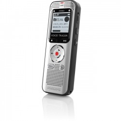 Philips - DVT2000 - Philips Voice Tracer Audio Recorder (DVT2000) - 4 GBmicroSD Supported - 1.3 LCD - MP3, WAV - Headphone - 270 HourspeaceRecording Time - Portable