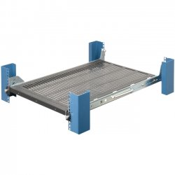 Rack Solution - 115-1516 - Innovation 115-1516 Rack Shelf - 1U Wide - Black - 95 lb x Maximum Weight Capacity