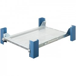 Rack Solution - 115-1473 - Innovation 115-1473 Rack Shelf - 1U Wide - Black - 95 lb x Maximum Weight Capacity
