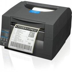 Citizen - CL-S521-E-GRY - Citizen CL-S521 Direct Thermal Printer - Monochrome - Desktop - Label Print - 4.09 Print Width - 6 in/s Mono - 203 dpi - 16 MB - USB - Serial - Ethernet - 4.65 Label Width