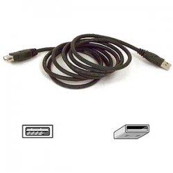 Belkin / Linksys - F3U134B03 - Belkin 3ft USB A/A 2.0 Extension Cable, M/F, 480Mps - USB extension cable - USB (M) to USB (F) - USB 2.0 - 3 ft - molded - B2B
