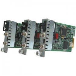 Omnitron - 8741-2 - iConverter T3/E3 Fiber Media Converter Coaxial ST Single-Mode 60km Module - 1 x T3/E3/DS-3; 1 x ST Single-mode; Internal Module; Lifetime Warranty