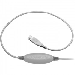 Honeywell - MX009-2MA7C - Honeywell USB Coiled Cable - Type A Male USB, RJ-45 Male - Gray