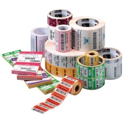 """Zebra Technologies - 800274-305 - Zebra Label Paper 4 x 3in Thermal Transfer Zebra Z-Select 4000T 1 in core - Permanent Adhesive - 4"""" Width x 3"""" Length - 930 / Roll - 1"""" Core - Thermal Transfer - White - Paper, Acrylic - 12 / Roll"""