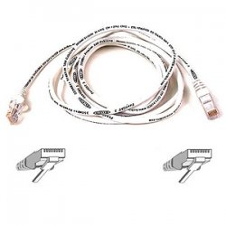 "Belkin / Linksys - A3L791-01-WHT-S - Belkin Cat5e Patch Cable - RJ-45 Male - RJ-45 Male - 12"" - White"