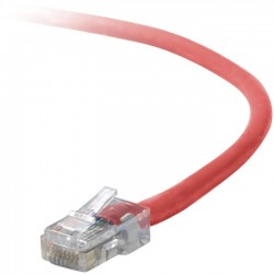 Belkin - A3L791-01-RED-S - Belkin Cat5e Patch Cable - RJ-45 Male - RJ-45 Male - 12 - Red