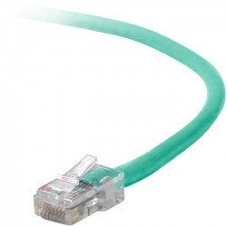 Belkin - A3L791-01-GRN-S - Belkin Cat5e Patch Cable - RJ-45 Male - RJ-45 Male - 12 - Green