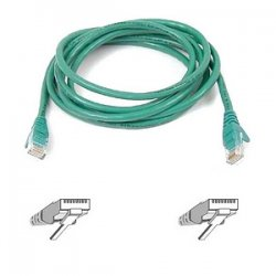 Belkin / Linksys - A3L791-01-GRN-S - Belkin - Patch cable - RJ-45 (M) to RJ-45 (M) - 1 ft - UTP - CAT 5e - snagless, booted - green - B2B - for Omniview SMB 1x16, SMB 1x8, OmniView IP 5000HQ, OmniView SMB CAT5 KVM Switch