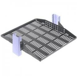 "Rack Solution - 2USHL-020-FULL-20V - Configurable Relay Rack Shelf - 20"" Vented"